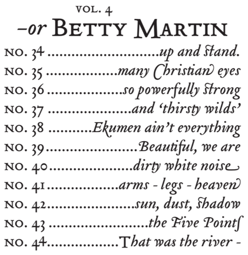 —or Betty Martin.